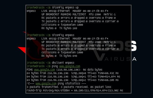 Setup Internet DracOS on VirtualBox