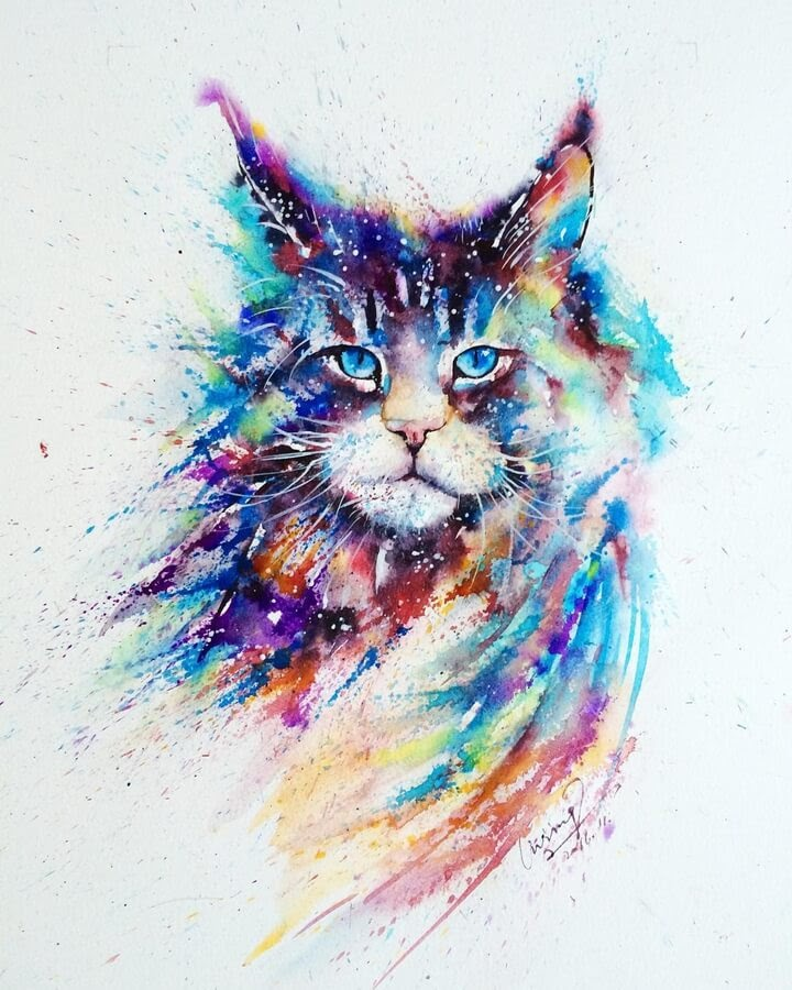 01-Cat-Watercolor-Paintings-liviing-www-designstack-co