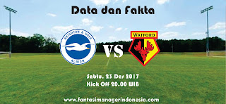 Data dan Fakta Fantasy Premier League Brighton & Hove Albion vs Watford Fantasi Manager Indonesia