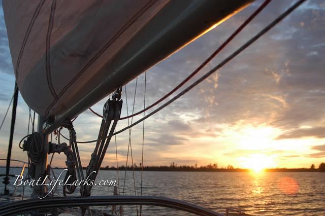 Sunset at anchor
