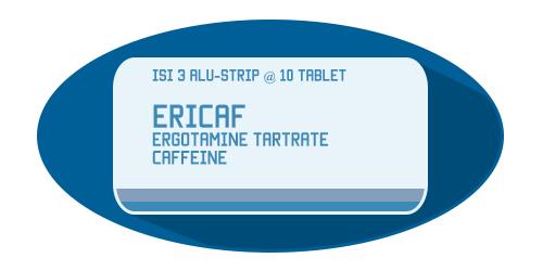 Ericaf: Ergotamin Tartrat & Coffein Obat Untuk Migrain