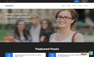e-Learn Responsive Blogger Template