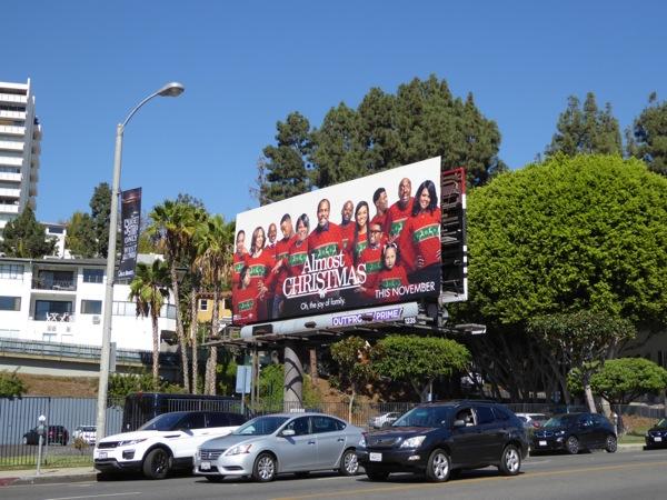Almost Christmas film billboard