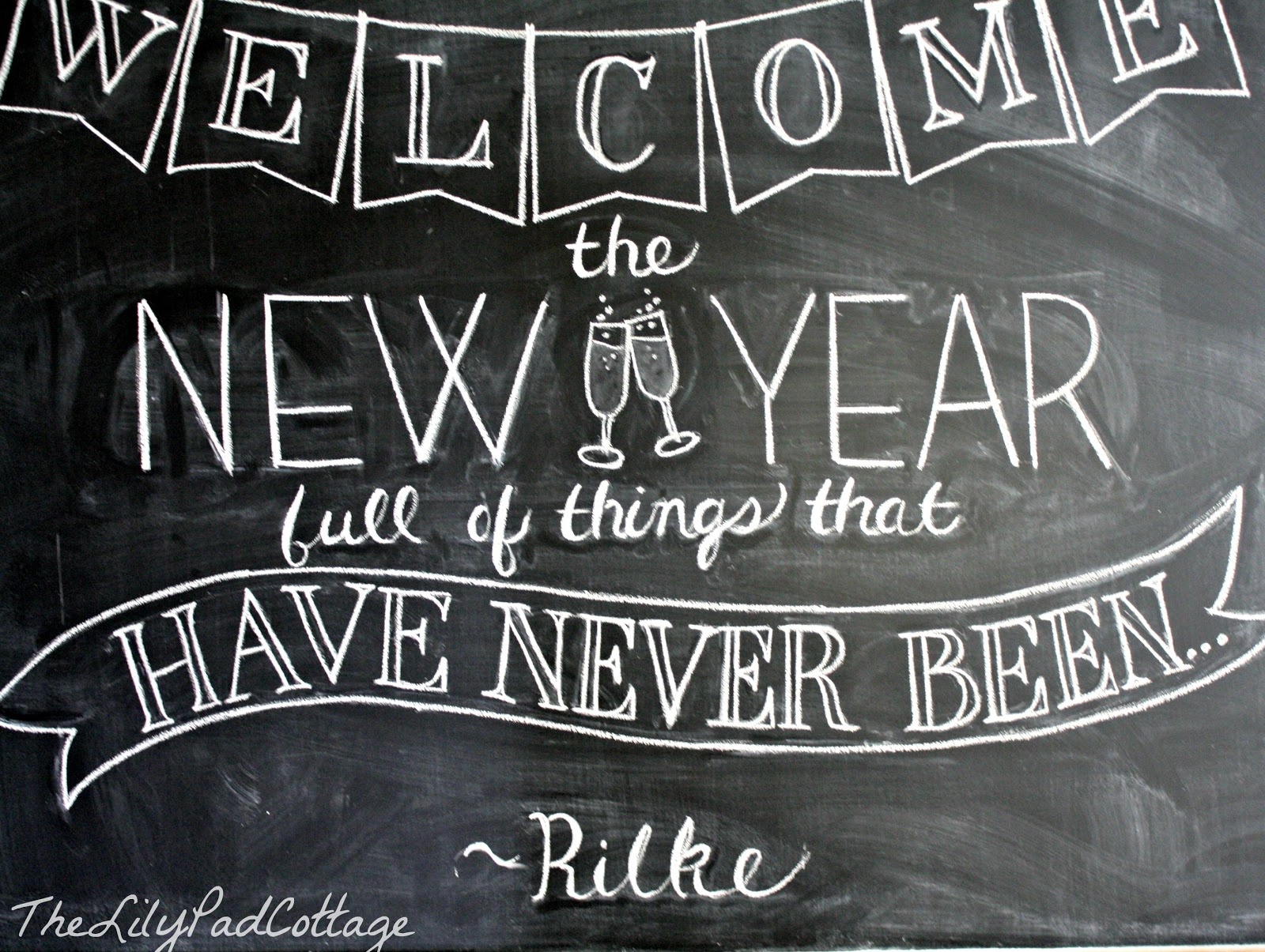 New Years Chalkboard - The Lilypad Cottage