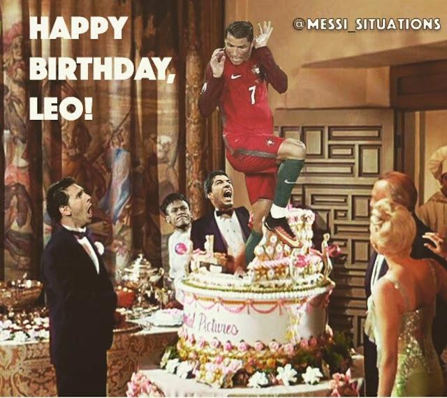 Feliz Cumple Leo!!! La sorpresa de Cristiano Ronaldo en el Cumpleaños de Messi
