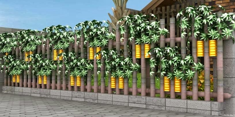 contoh gambar pagar ba...