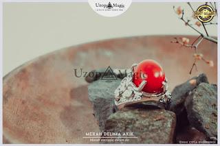 Jual alat sulap Ring Cincin Merah Delima akik