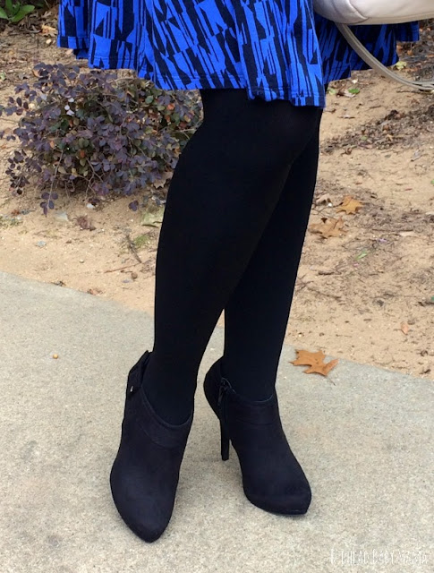 Suede Black Heeled Booties from Rack Room are perfect for work