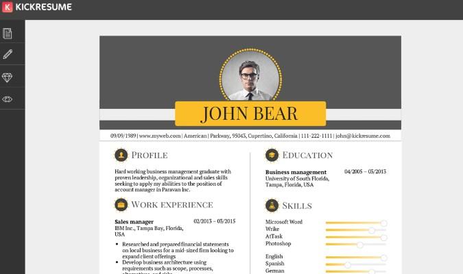 Bikin Resume Unik Lewat Website - KickResume.com