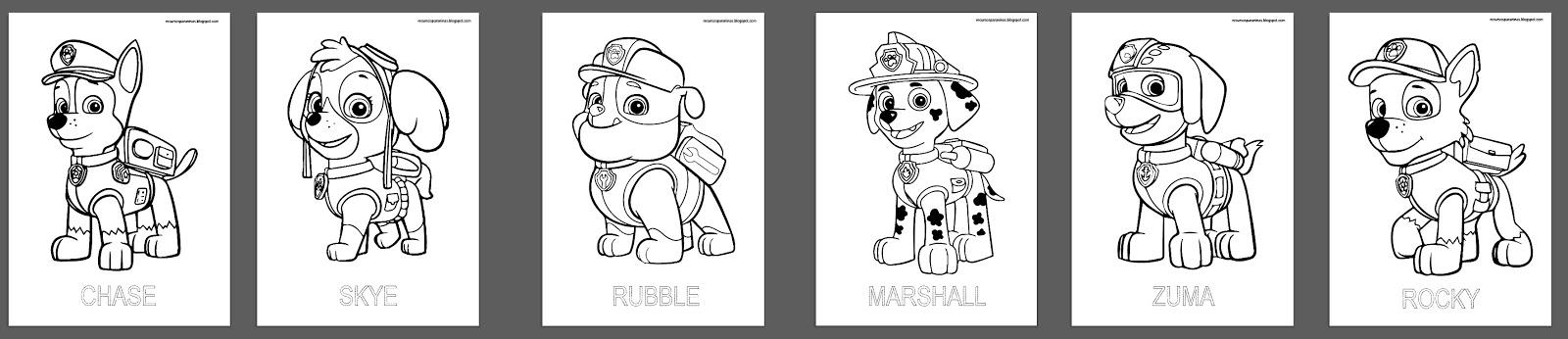 Libro Patrulla canina para colorear PDF | Recursos para Niñ@s