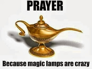 Funny Prayer Joke Picture - Prayer - because magic lamps are crazy