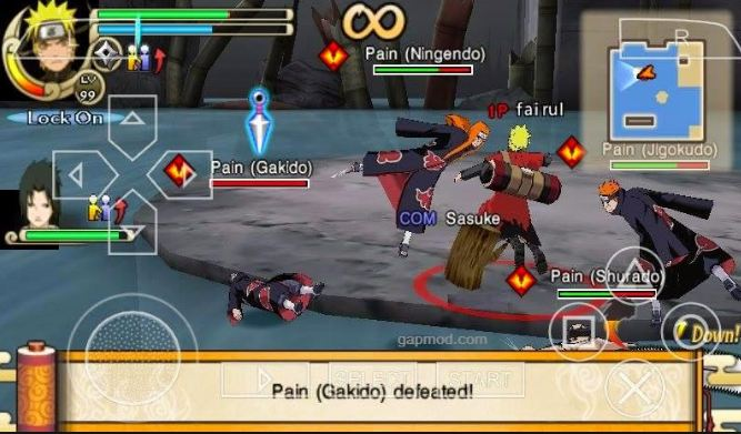 Download Game PSP Naruto Shippuden: Ultimate Ninja Impact iso - Game