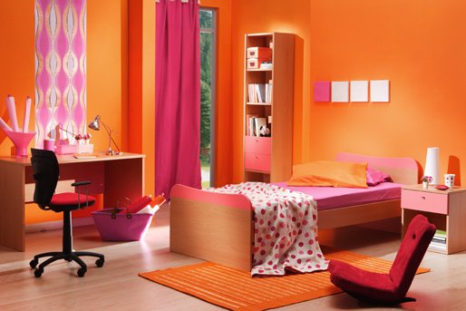 Habitaciones para ni os color naranja dormitorios colores y estilos - Habitaciones color naranja ...