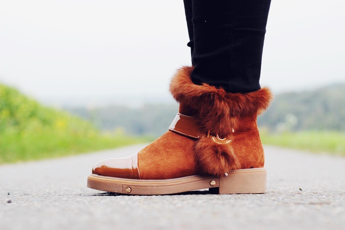 buty botki balando futerko zimowe ciepłe