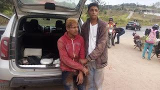 Bandidos são presos após assaltar ônibus com trabalhadores de fábrica de CG