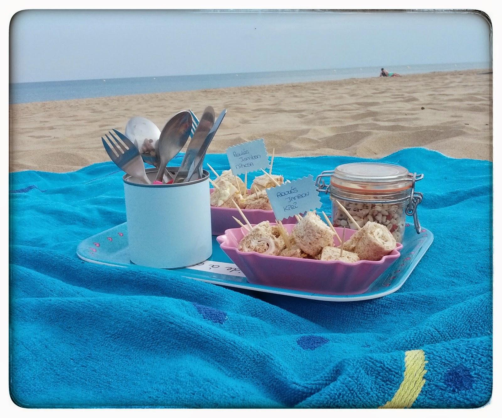 pique nique la plage madmoizelle cupcake. Black Bedroom Furniture Sets. Home Design Ideas