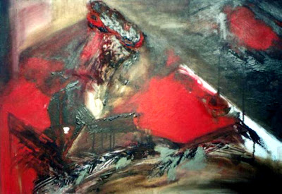 mixed media, abstract paintings, paintings with cement, paintings with sand