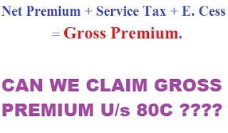 Service-Tax-Paid-on-Insurance-Premium-U/s.80C