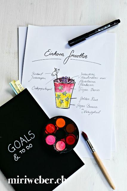 Einhorn Smoothie, einhorn food, einhorn frühstück, einhorn ideen, einhorn müesli, gesundes essen, schweizer kreativblog, gesundes rezept