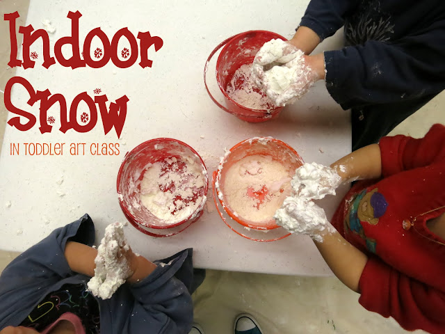 http://librarymakers.blogspot.com/2013/02/toddler-art-class-indoor-snow.html