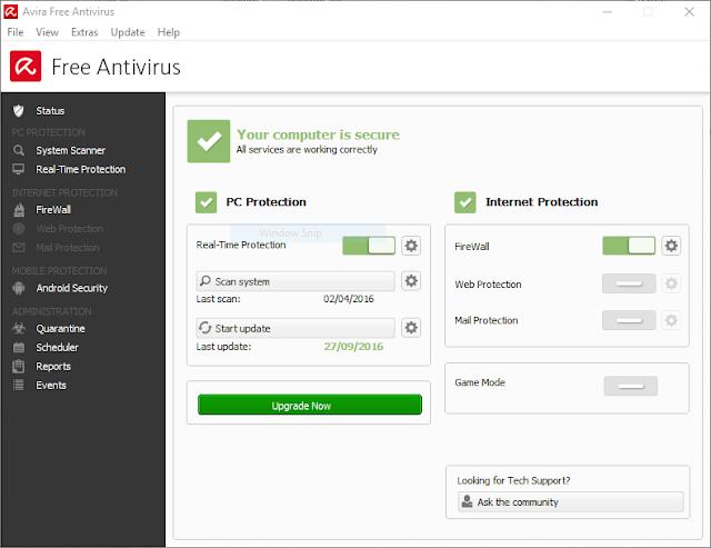 برنامج أفيرا أنتي فايروس مجاناً