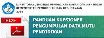 Panduan Kuesioner Pengumpulan Data Mutu Pendidikan (PMP) Versi Pdf