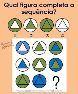 Teste: Qual figura completa a sequência?