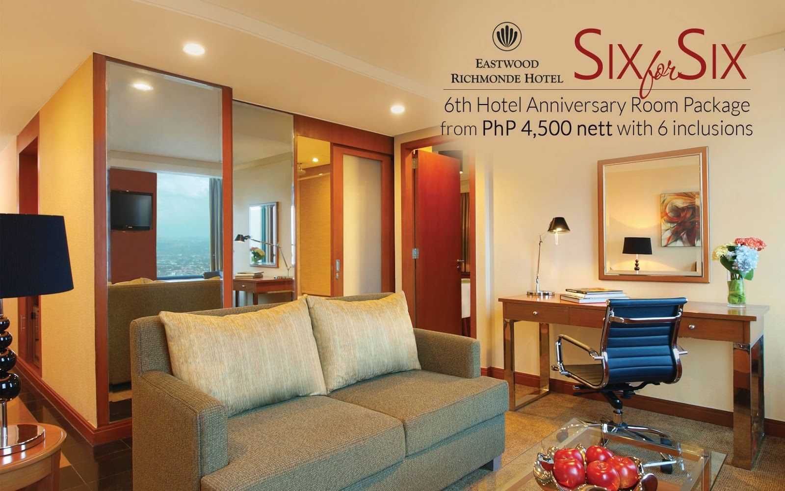 Manila shopper eastwood richmond hotel 6 for 6 anniversary promo november to december 2016 for 2 bedroom suites in richmond va
