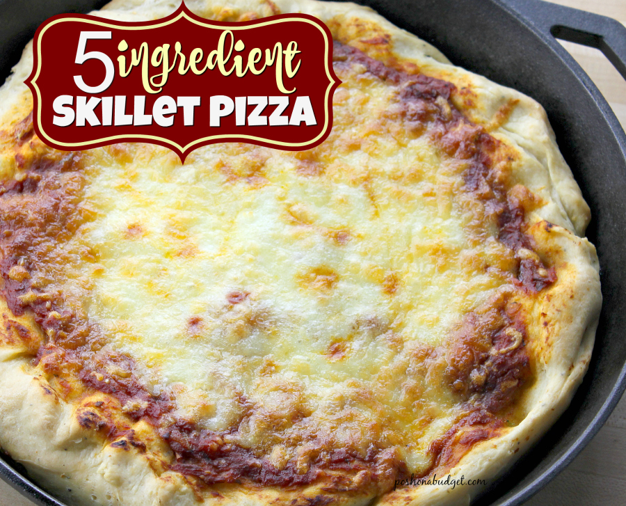 5 Ingredient Skillet Pizza