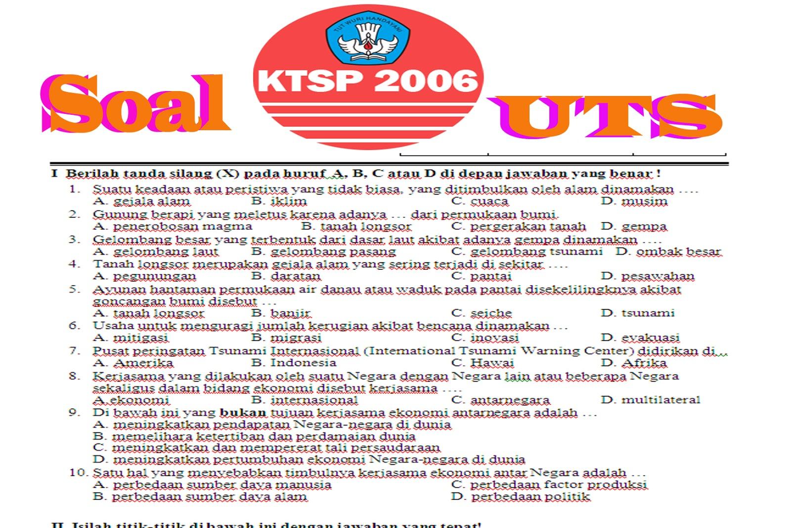 Download Contoh Soal Uts Semester 1 Tahun 2015 Untuk Sd Semua Kelas Berkas Edukasi