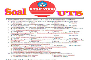 Download Contoh Soal UTS Semester 1 untuk SD Semua Kelas