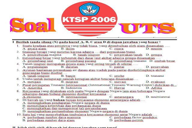 Download Contoh Soal UTS Semester 1 tahun 2015 untuk SD Semua Kelas