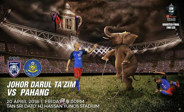 Live Streaming JDT vs Pahang 20.4.2018 Piala FA