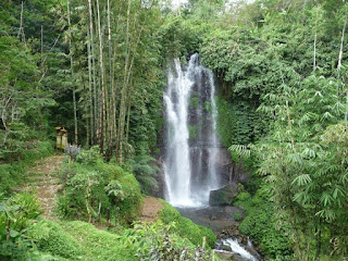 The Beautiful And Cool Blemantung Waterfall