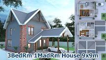 7 Bedroom 2 Story Home Plans in Nigeria SketchUp