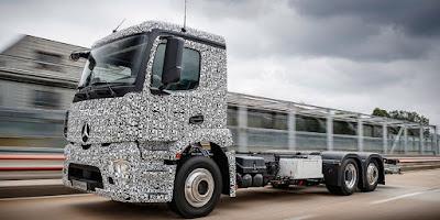 Mercedes-Benz anuncia el Big Rip, el camió totalment elèctric