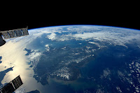 England seen from the International Space Station