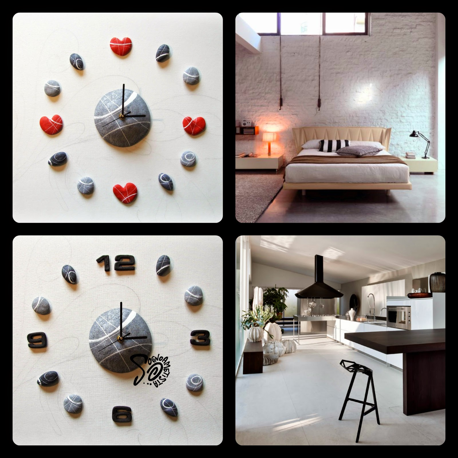 Sognoametista orologi adesivi da parete natura e design - Orologi di design da parete ...