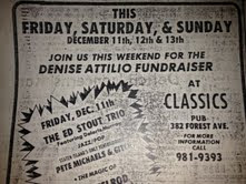 Denise Attilio fundraiser flyer