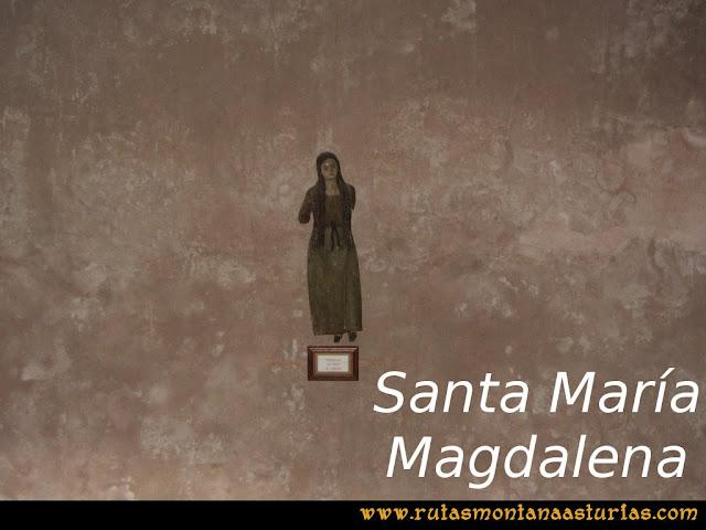 Ruta La Collada Monsacro: Imagen de Santa María Magdalena