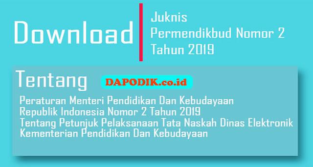 Buku Petunjuk Pelaksanaan Tata Naskah Dinas Elektronik (TNDE)Permendikbud Nomor 2 Tahun 2019
