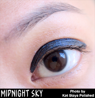 Jesse's Girl Cosmetics - Fluid Shadows - Midnight Sky | Kat Stays Polished