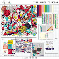 Tennis Addict  Collection by Akizo Designs