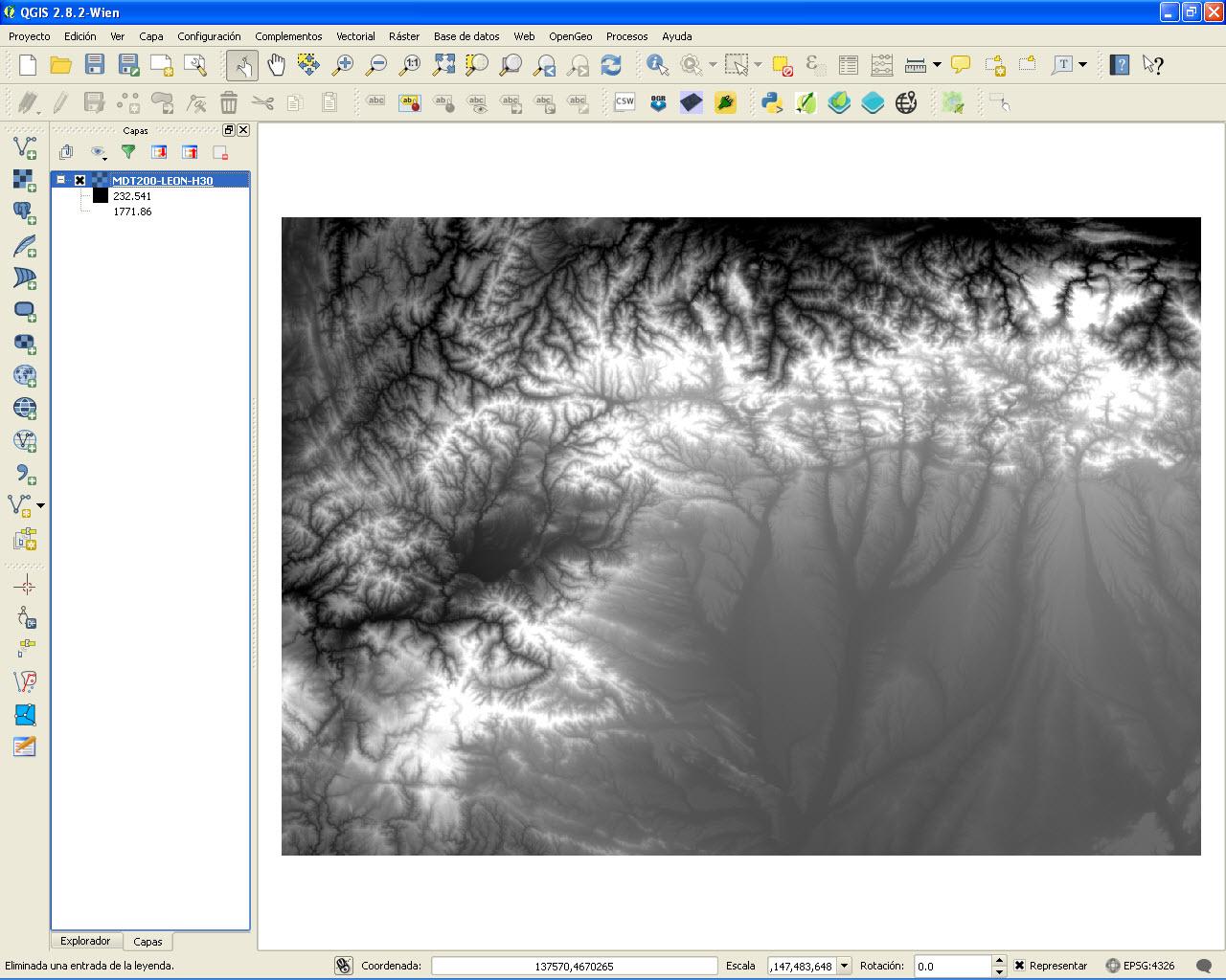 Cartografía Digital: Mapa hipsométrico en QGIS