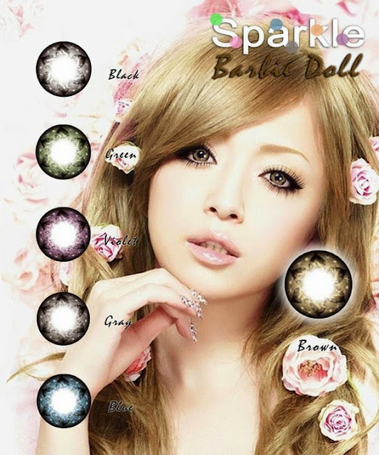 7242783cbd1 Best-Selling Sparkle Contact Lens in Barbie Doll in Brown ...