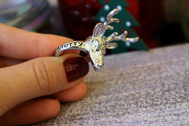 Zaful Christmas Deer Ring