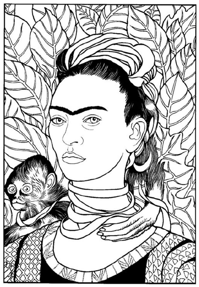 Kleurplaat Vincent Van Gogh Escuela Infantil Castillo De Blanca Frida Kahlo