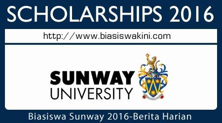 Biasiswa Sunway University With Berita Harian 2016
