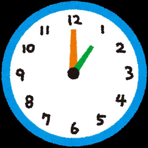 時計のイラスト 30分毎の時間長針短針 かわいいフリー素材集