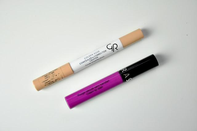 kredka-korektor golden rose concealer&corrector crayon, pomadka sephora cream lip stain 19 radiant orchid